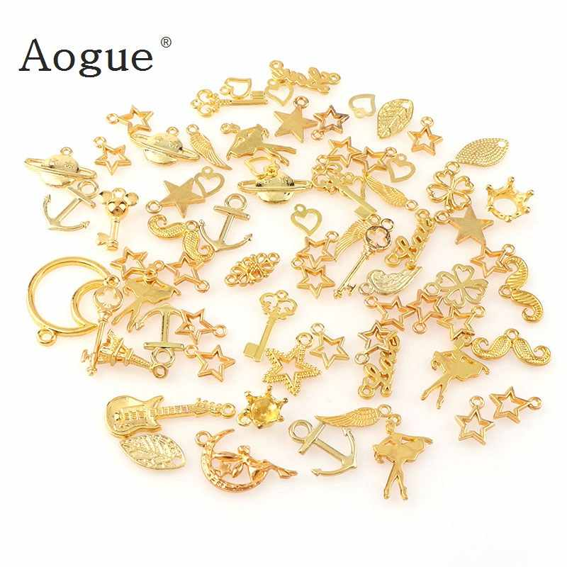 20pcs/lot Mini Mixed Golden Metal Floating Charms Handmade DIY European Charm Bracelets Pendants Jewelry Making