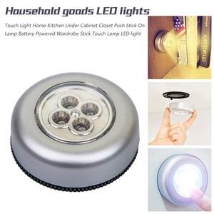 Image 5 - 3/4 LED dotykowe światło strona główna kuchnia pod szafka Push Stick On akumulator lampy zasilany szafa Stick lampa dotykowa LED Light