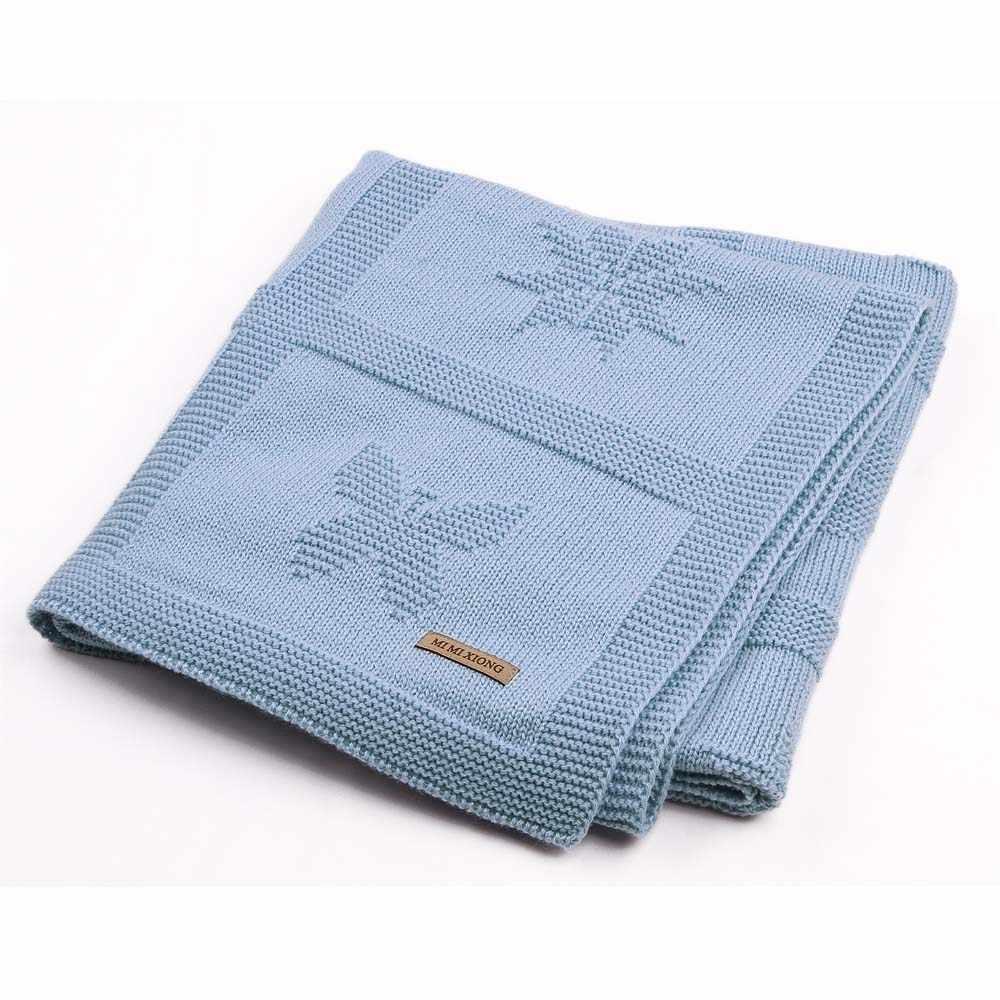 Детское одеяло для новорожденных, мягкое, для малышей, для детей, пеленание, обертывание, постельные принадлежности, одеяло s, однотонное, вязаное, детская коляска, постельное белье 95*75 см
