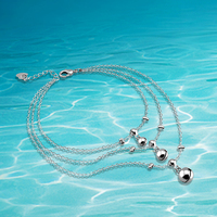 Free Shipping Women 925 Sterling Silver Anklets. Anklet Bracelet. Women Anklets.Fashion Jewelry Foot Anklet.Three Line Bell