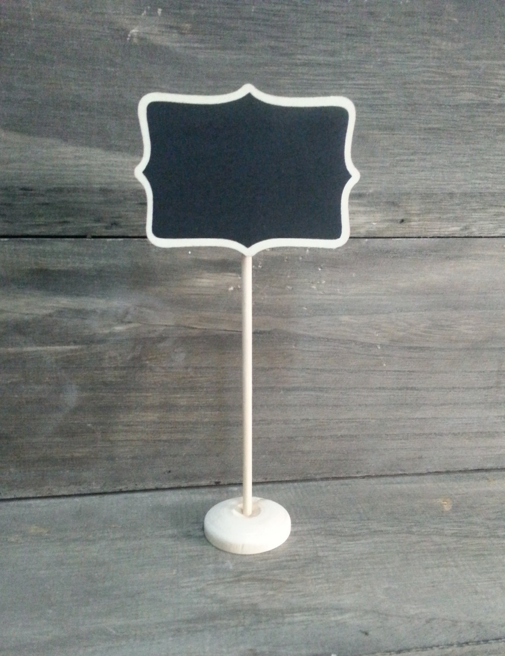Wave Shape Black board for flower pot of Garden ,name tag, price tag board
