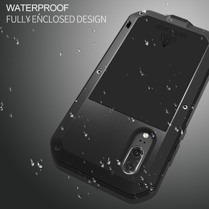 Image 4 - Love Mei Armor Metal Case For Huawei P20/P20 PRO/P20 Lite Cover Aluminum Powerful Shockproof Cover with Tempered Glass