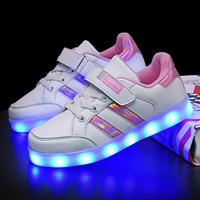 2019 Tenis Led Shoes Glowing Sneakers for Boys and Girls Light Up Shoes for Kids Led Luminous Shoes Size 25 37 tenis infantil