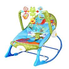 Multifunction Baby Soft Rocking Chair With Music Infant Swings Baby Sleep Bed Newborn Cradle Seat(China)