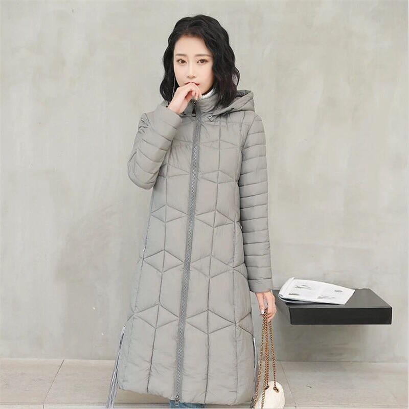Women Winter Solid All-Match A-Line Slim Long Coat Thicken Warm Hooded Tassel Coat Outwear   Parkas   Ladies Chaqueta Plus Size 3XL