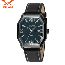 Mens Watches Top Brand Luxury Business Wrist watch Clock Leather band Boys Casual Sport Quartz-watch Relogio Masculino 120104