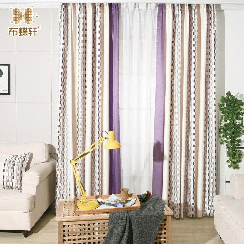 ჱEstilo moderno azul púrpura costura jacquard dormitorio romántico ...