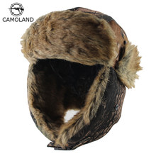 2018 New Men Bomber Hats Winter Trooper Trapper Hat Ushanka Russian Hat  with Faux Fur Outdoor 515b3d6dead