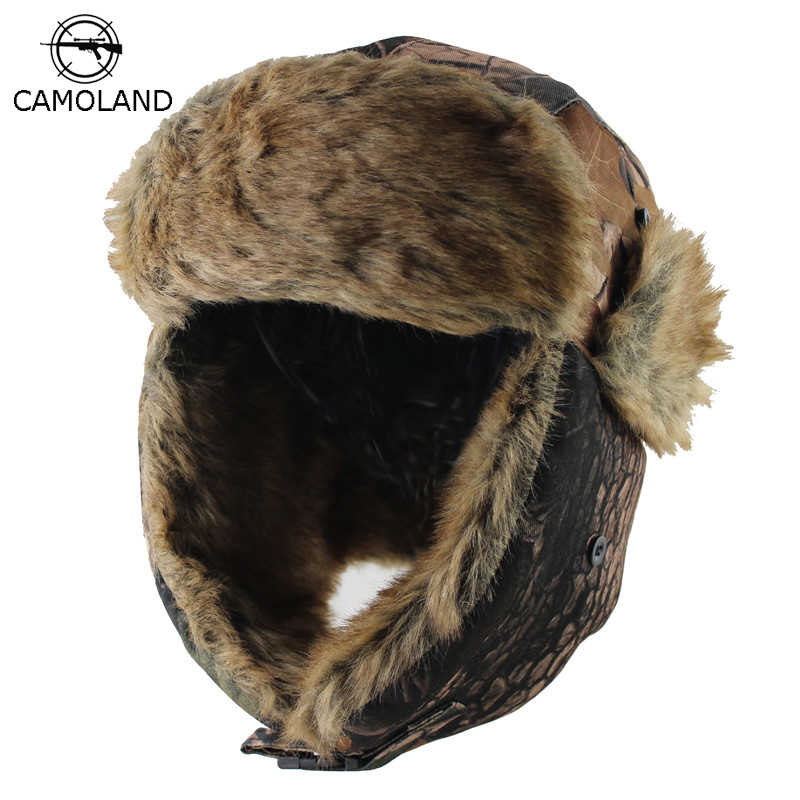 4d616b19eb6 2018 New Men Bomber Hats Winter Trooper Trapper Hat Ushanka Russian Hat  with Faux Fur Outdoor
