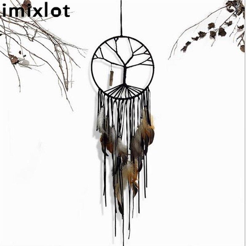 Imixlot Moda Hindistan Retro Hayat Ağacı Tüy Dream Catcher Rüzgar - Ev Dekoru - Fotoğraf 2