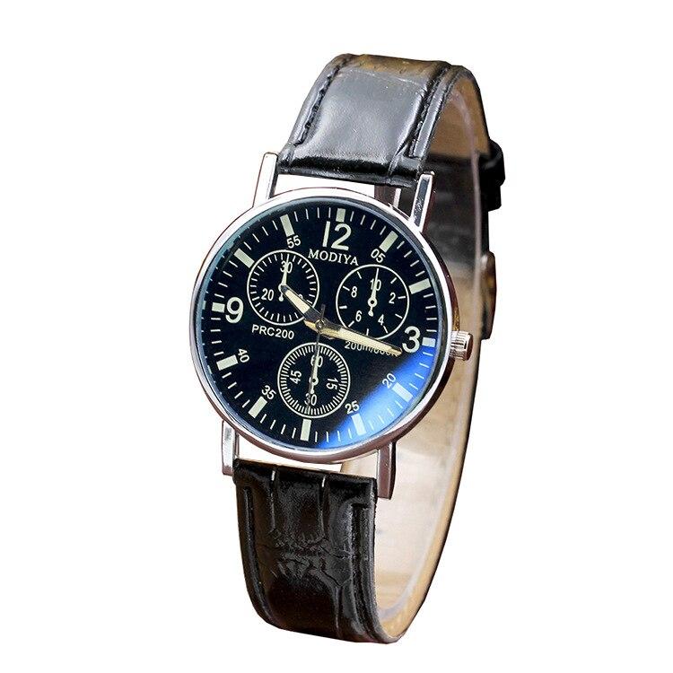 Explosions cadeau montre pour hommes mode quartz montre montre bleu verre ceinture montre pour hommes fabricants en gros 4