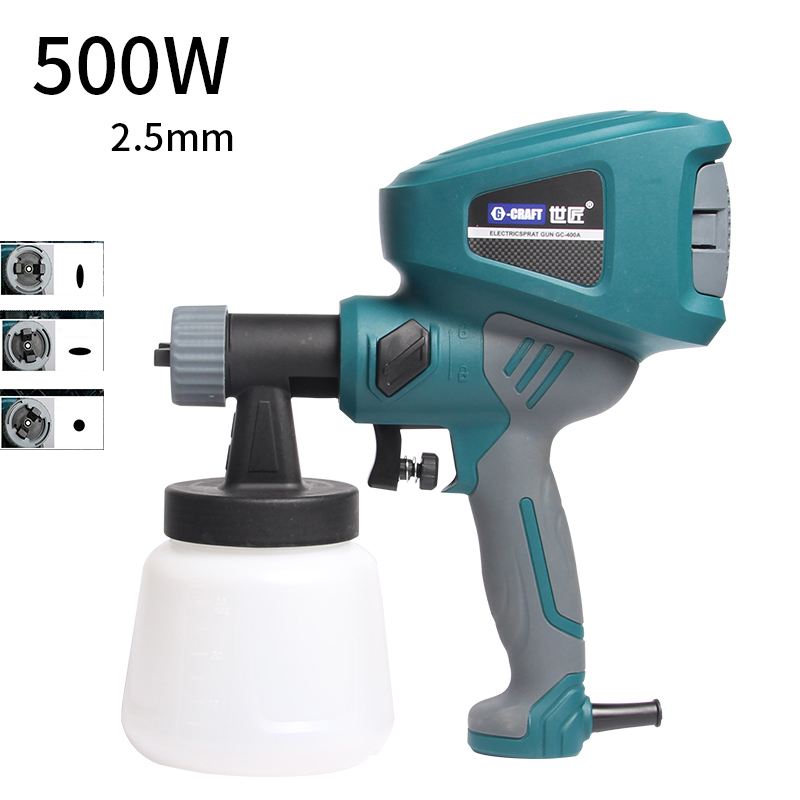 220V Electric spray gun Automotive furniture paint latex paint sprayer High atomization spray gun tool 900ml 2.5mm 800w electric painter spray gun 900ml latex paint sprayer 1 8m spray hose hvlp paint sprayers house painting machine power tools
