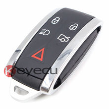 Замена Smart Key Shell Дистанционного Ключа Дело Брелок 5 Кнопка + Пустой ключ Uncut для JAGUAR S-Type XF XK XKR 2007 +