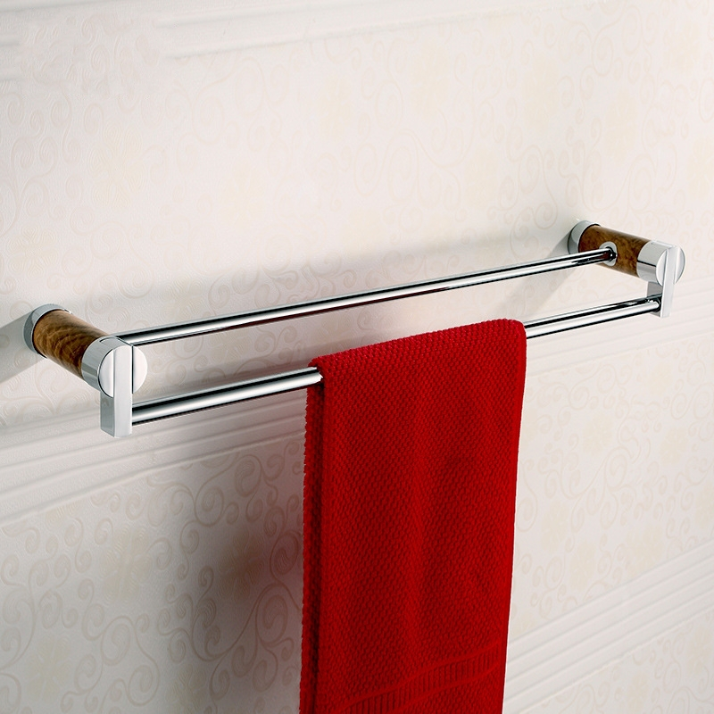 62cm Solid Brass& Marble Made Double Towel Bar,Towel Holder,Chrome Finished, Bathroom Products,Bathroom Accessories-6725