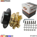 EPMAN - Steering Wheel Snap Off Quick Release Hub Adapter Boss kit Universal Color:Golden,Black,Titian,Blue,Red EP-CA0011