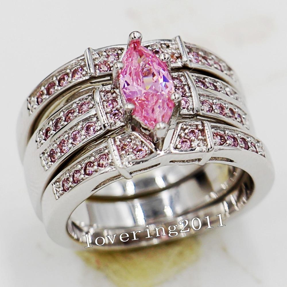 simongjewelry pink diamond wedding band