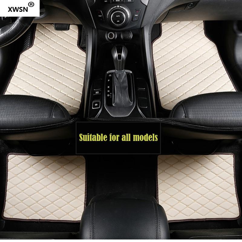 XWSN Universal car floor mat for Skoda All Model Octavia RS Fabia Superb Rapid Spaceback GreenLine Joyste Car styling Auto parts