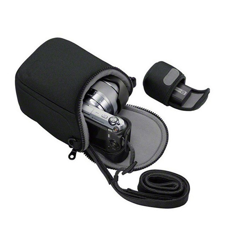 Camera Cover Case Bag for <font><b>Canon</b></font> EOSM10 M100 M5 M6 M3 EOSM2 EOS M SX400 SX410 SX420is SX500 SX510 SX520 SX530 <font><b>SX540HS</b></font> With Strap image
