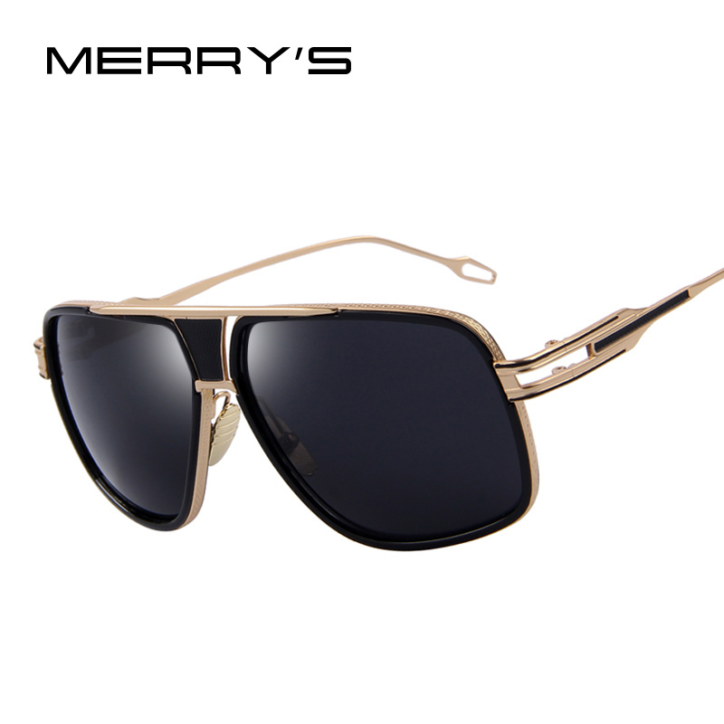 Vintage Big Frame Glasses : MERRYS Mens Sunglasses Newest Vintage Big Frame Goggle ...
