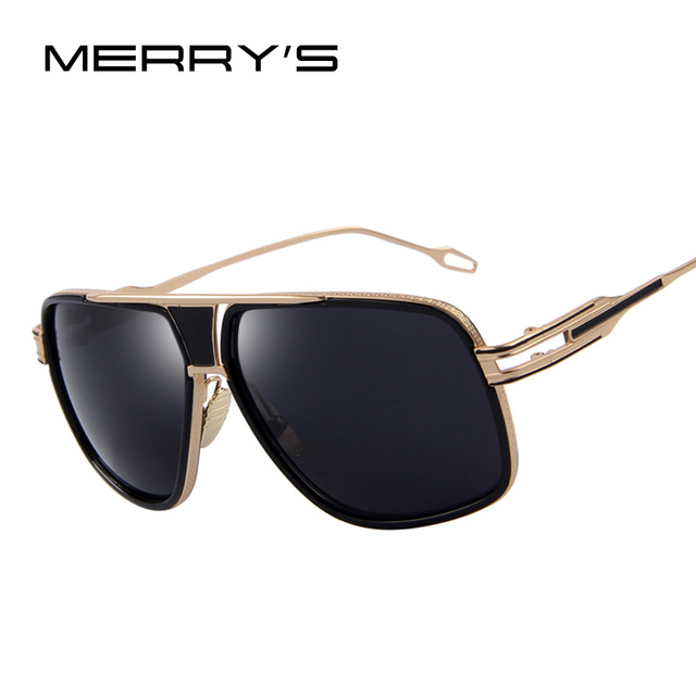 2db144b7ca MERRY S Men s Sunglasses Newest Vintage Big Frame Goggle Summer Style Brand Design  Sun Glasses Oculos De
