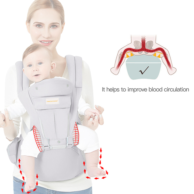 Baby Wrap Carrier with Hip Seat Windproof Cap Bite Towel as well as 6 and 1 Convertible Backpack Cotton Sling for Infants