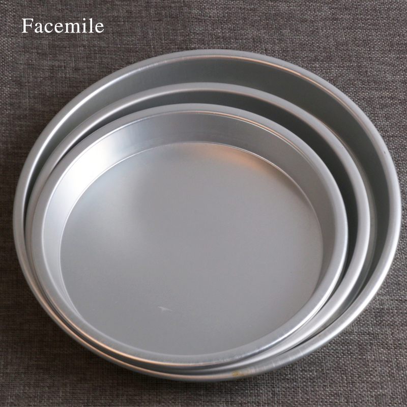 Facemile 7/8/9 Inches Aluminum Baking Pan Bread Cake Pudding Chocolate Pizza Tray Pan Pizza Tray Pancake Net Pastry Bakeware Pan