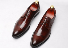 men borgeus genuine leather derby oxfords shoes 2018 wedding prom fashion shoes lace up male high quality design italian shoes