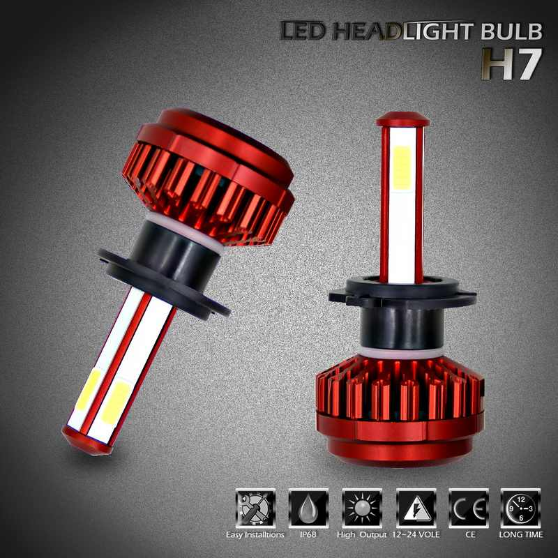 12000LM Bright 100W LED Headlight Bulbs Conversion Kits 360 Degree Low Beam Fog Light Lamp Replacement (6000K)
