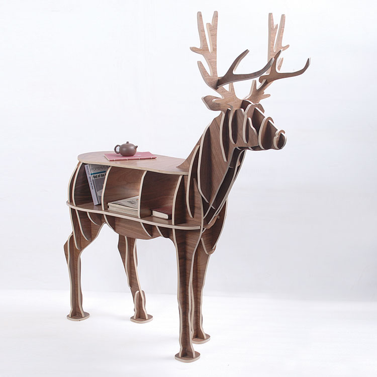 J e high end 55 height wood deer home furniture unique for High end furniture for less