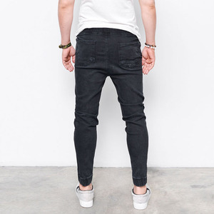 Image 4 - 2017 Envmenst Brand Fashion Mens Harem Jeans Washed Feet Shinny Denim Pants Hip Hop Sportswear Elastic Waist Joggers Pants