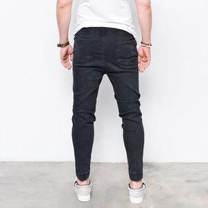 Image 4 - 2017 envmenst Brand แฟชั่นผู้ชาย Harem กางเกงยีนส์ฟุต Shinny กางเกงยีนส์ Hip Hop กีฬา Elastic เอว Joggers กางเกง