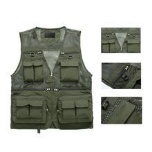Quick-drying Fishing Vest Multi-pocket Multifunction Outdoor Fish Waistcoat Nylon Sleeveless Shirt