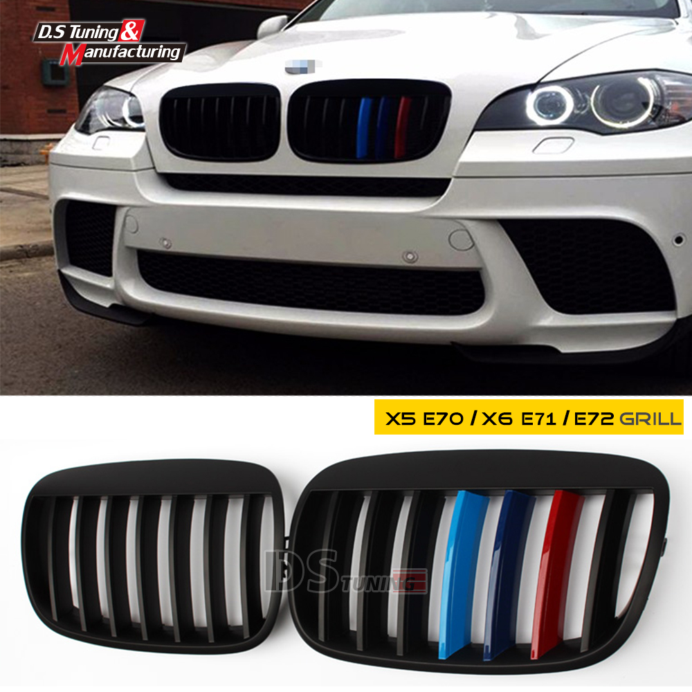 X5 e70 x6 e71 m color single slat front kidney grill grille mesh front grid