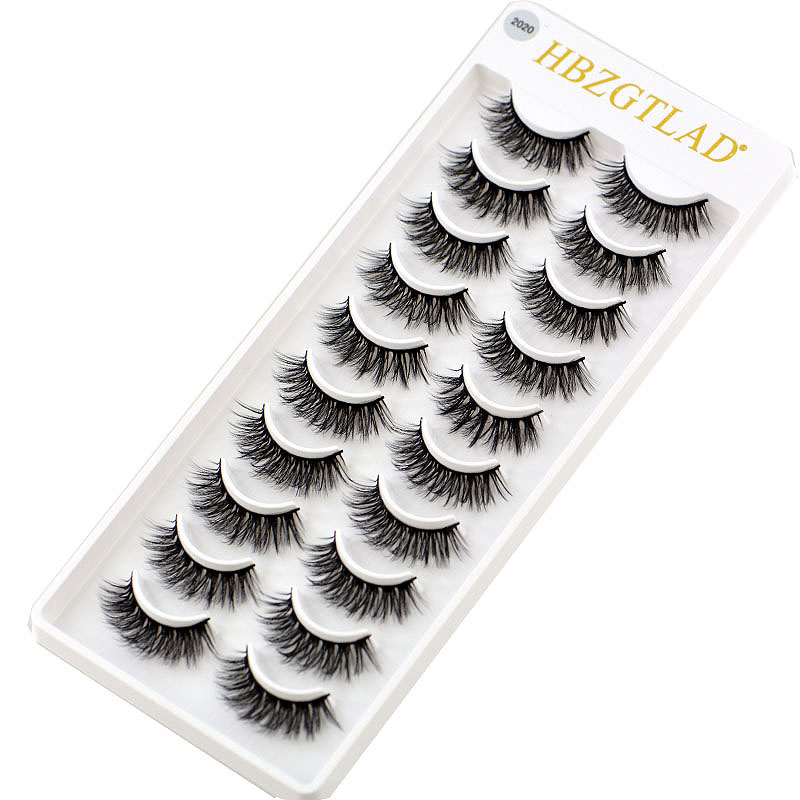 74b600ca8ad 2019 NEW 1/10 pairs 100% Real Mink Eyelashes 3D Natural False Eyelashes 3d  Mink Lashes Soft Eyelash Extension Makeup Kit Cilios-in False Eyelashes  from ...