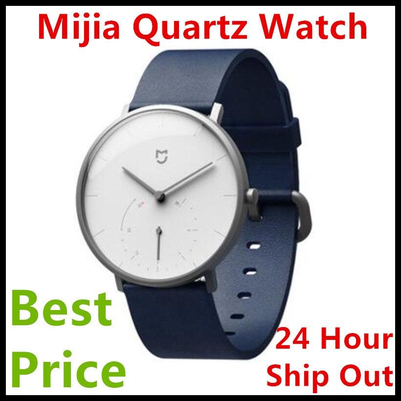 Best Price Xiaomi Mijia Smart Quartz Watch Waterproof Pedometer Smartband Bluetooth 4.0 Mi Smartwatch Automatic Calibration time