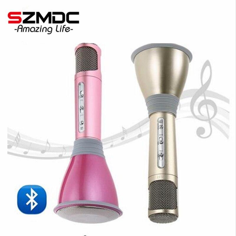 Hot Sales K068 Wireless Microphone microfone with Mic Speaker Condenser Mini Karaoke Player KTV Singing Record