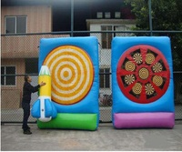 outdoor sport inflatable golf dart game, inflatable soccer darts board