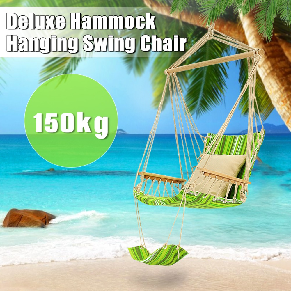 SGODDE Swing Hammock Hanging Chair Air Outdoor Garden Beach Patio Yard Tree 330Lbs Max Tree Hanging Hammocks Casual Outdoor цена 2017