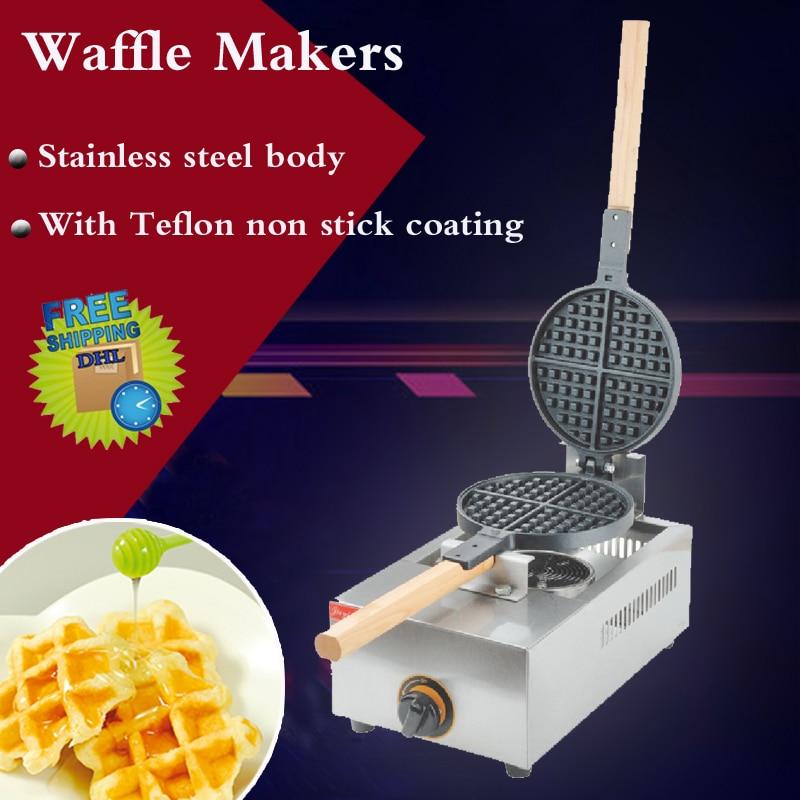 1PC FY-1.R-B Gas restaurant round Cafe waffle machine waffle maker/Gas waffle machine