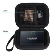 Funda de viaje para Samsung T3 T5 T1, almacenamiento de transporte, portátil, 250GB, 500GB, 1TB, 2TB, SSD, USB 3,1, unidades de estado sólido externas