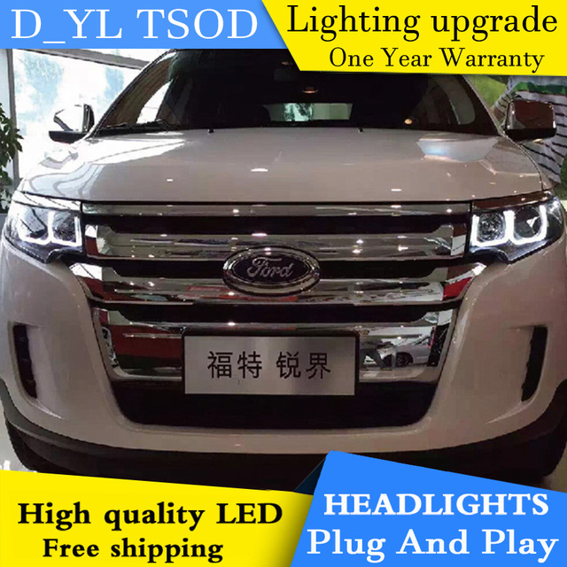 Car Styling For Ford Edge Headlights   Edge Led Headlight Head Lamp Led Drl