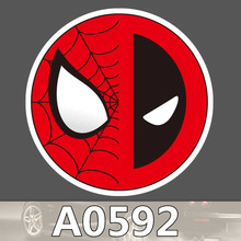 Bevle A0592 Dealpool Spider Man Wasserdichte Kühle DIY Aufkleber Laptop Gepäck Skateboard Kühlschrank Auto Graffiti Cartoon Aufkleber