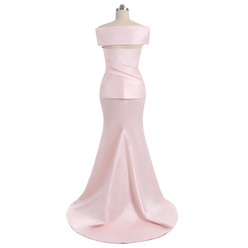 Pink 2018 Mother Of The Bride Dresses Mermaid Cap Sleeves Satin Beaded Slit Wedding Party Dress Mother Dresses For Wedding 4