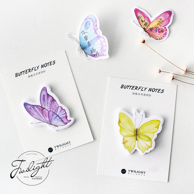Beautiful butterfly animals memo pad planner sticky note paper sticker kawaii stationery pepalaria office school supplies brita 1017237 для fill
