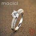 Valentine's Day Present Fine Jewelry Genuine 925 Sterling Silver Ring Female (DW172)