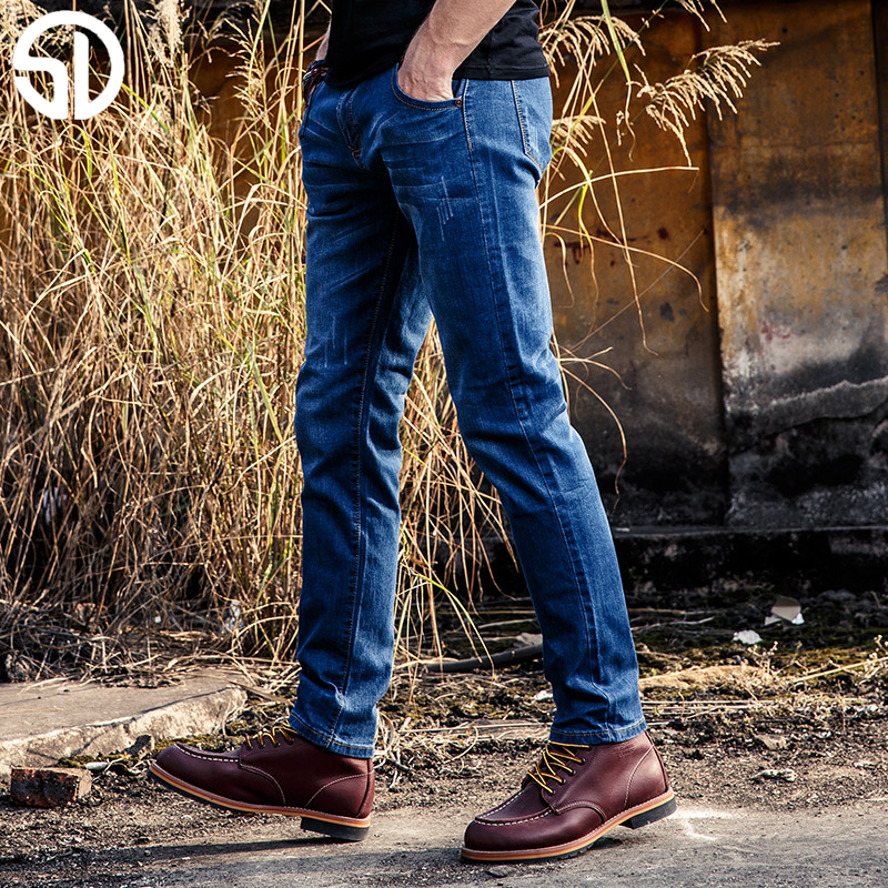 2017 New Arrival Fashion Brand Men Jeans Mens Slim Straight Thin Blue Jeans Male Long Pants Man Trousers Jeans For Male trousers