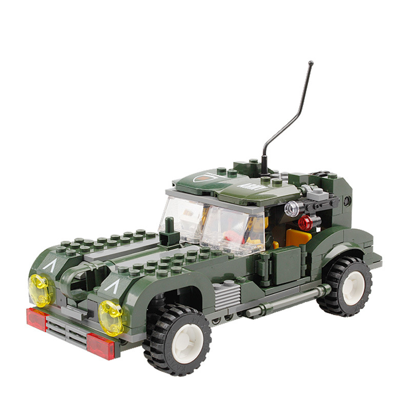 KAZI Models Building toy Compatible with Lego K84001 251pcs Army Armor Car Blocks Toys Hobbies For Boys Girls Building Kits