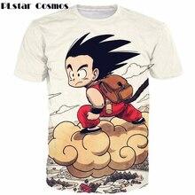 PLstar Cosmos Cute Kid Goku Fly 3d Print T-shirts Men Women Anime Dragon Ball Z Super Saiyan Hipster t shirt Harajuku Tee shirts