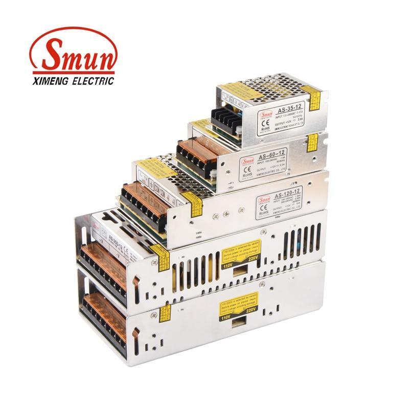 SMUN Small Size Series 12V 1A/2A/3A/4A/5A/6A/8A/10A/20A/30A Switching LED Power Supply Light Transformer For LED Strip