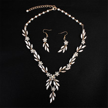 Bridal Crystal Necklace And Earrings Jewelry Set Gifts Fit With Wedding Dress For brides недорого